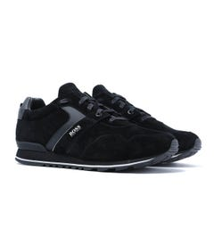 BOSS Parkour Runn Black Suede Trainers