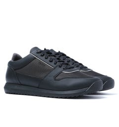 BOSS Sonic Run Black Mesh Trainers