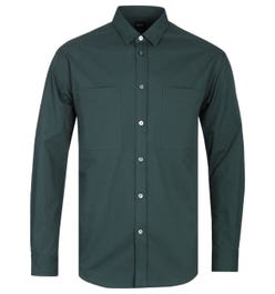BOSS Noah T Relaxed Fit Forest Green Overshirt