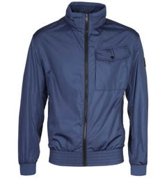 BOSS Cuze Funnel Neck Open Blue Jacket