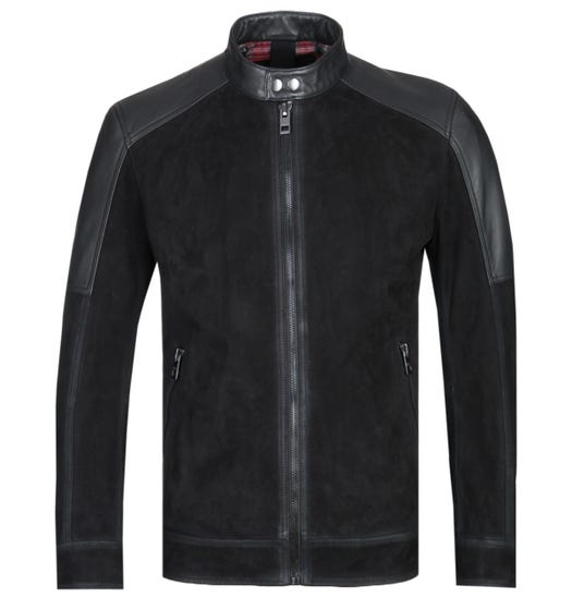 BOSS Jasens Black Suede Jacket