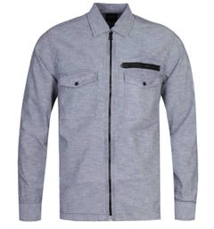 BOSS Lovel 3 Zip-Through Dusty Grey Overshirt