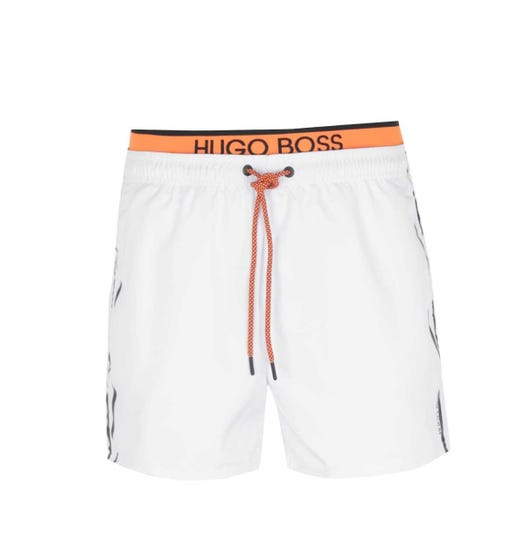 BOSS Bodywear Thornfish Double Waist White Swim Shorts