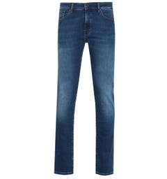 BOSS Maine regular Fit Stretch Indigo Wash Denim Jeans