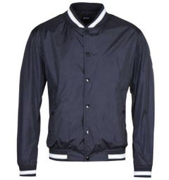 BOSS Cantro Synthetic Shine Navy Bomber Jacket