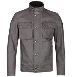 Belstaff Charcoal Grey Racemaster Waxed Jacket