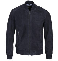 Belstaff Dark Ink Suede Harbour Jacket