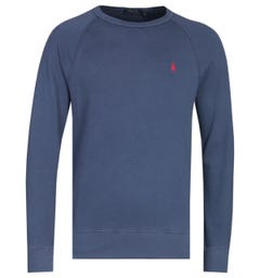 Polo Ralph Lauren Terry Crew Neck Navy Logo Sweatshirt