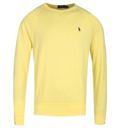 Polo Ralph Lauren Terry Crew Neck Yellow Logo Sweatshirt