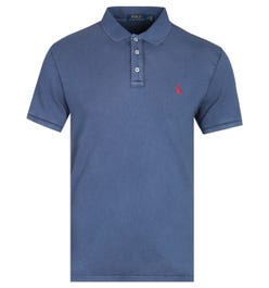 Polo Ralph Lauren Towelling Cruise Navy Polo Shirt