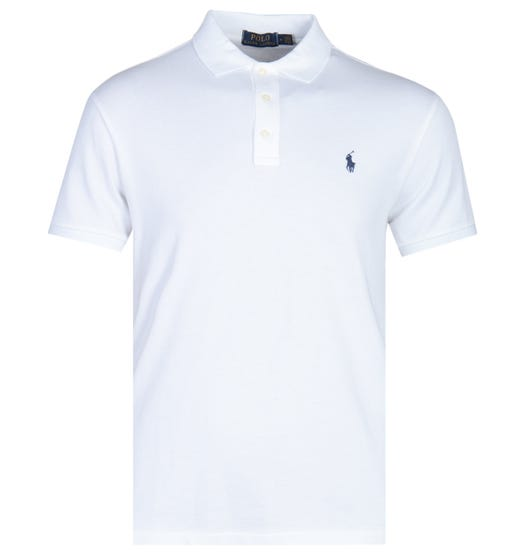 Polo Ralph Lauren Towelling White Polo Shirt