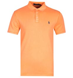 Polo Ralph Lauren Towelling Orange Polo Shirt