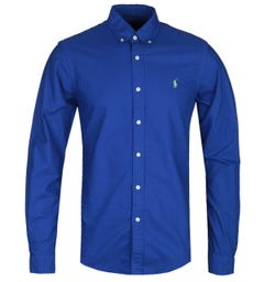 Polo Ralph Lauren Slim Fit Long Sleeve Deep Blue Sport Shirt