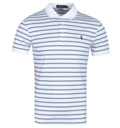 Polo Ralph Lauren White Striped Pima Cotton Polo Shirt