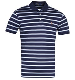 Polo Ralph Lauren Navy Striped Pima Cotton Polo Shirt