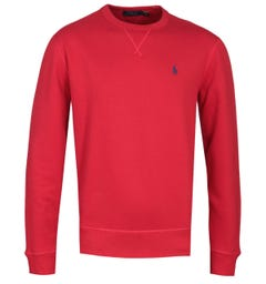 Polo Ralph Lauren Logo Fleece Red Sweatshirt