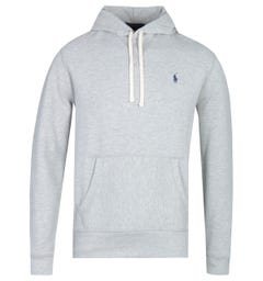 Polo Ralph Lauren Grey Heather Pullover Logo Hoodie