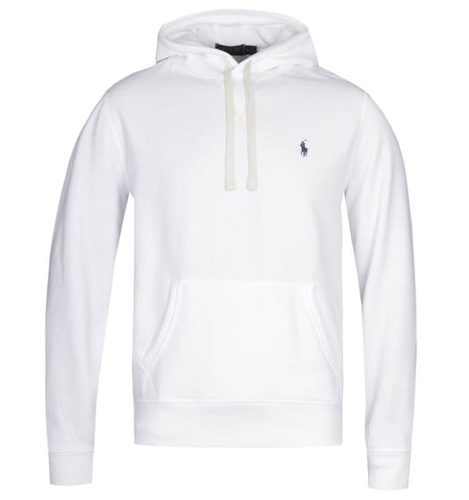 Polo Ralph Lauren White Pullover Logo Hoodie