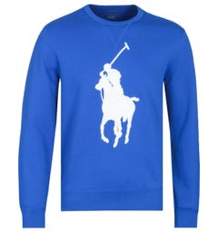 Polo Ralph Lauren Big Pony Tonal Logo Electric Blue Sweatshirt