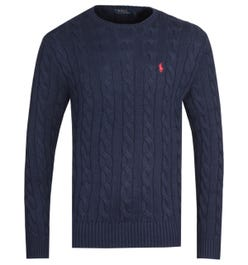 Polo Ralph Lauren Cable Knit Navy Sweater