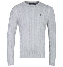 Polo Ralph Lauren Cable Knit Grey Sweater