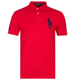Polo Ralph Lauren Big Pony Custom Slim Fit Red Polo Shirt