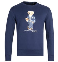 Polo Ralph Lauren Sport Bear Print Navy Sweatshirt