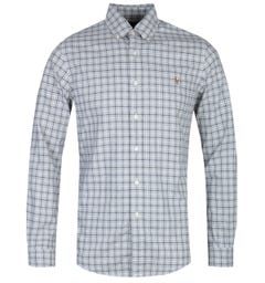 Polo Ralph Lauren Slim Fit Long Sleeve Grey Check Shirt