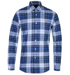 Polo Ralph Lauren Slim Fit Long Sleeve Blue Check Shirt