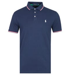 Polo Ralph Lauren Custom Slim Fit Tipped Navy Polo Shirt