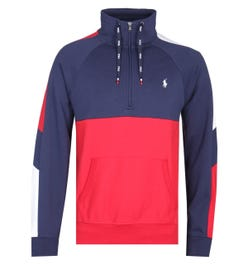 Polo Ralph Lauren Interlock Quarter-Zip Navy Pullover