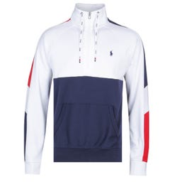 Polo Ralph Lauren Interlock Quarter-Zip White Pullover