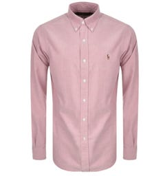 Polo Ralph Lauren Long Sleeve Pink Chambray Shirt