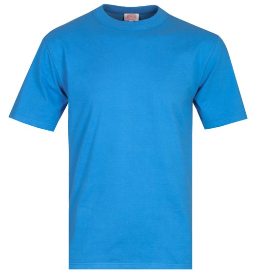 Armor Lux Basic Blue Crew Neck T-Shirt
