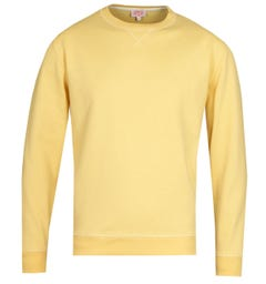 Armor Lux Crew Neck Yellow Sweatshirt