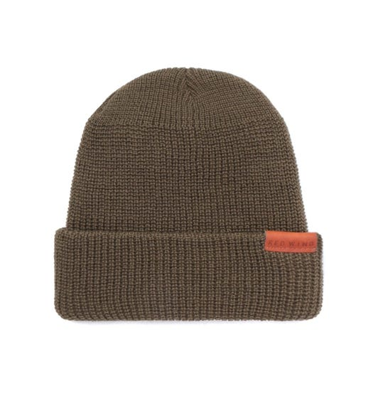Red Wing Merino Wool Olive Green Beanie Hat