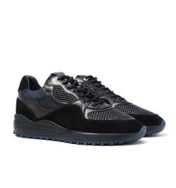 Android Homme Santa Monica Black & Navy Stretch Woven Trainers