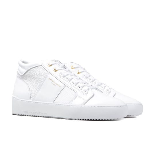 Android Homme Propulsion Mid Raptor Emboss White Trainers