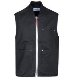 Albam Waxed Black Overhaul Vest