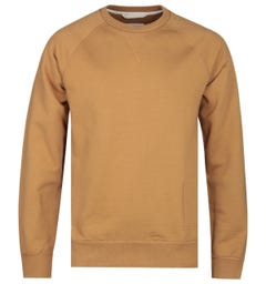 Albam Fleece Lined Tan Sweatshirt