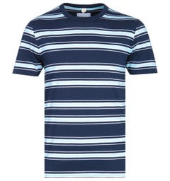 Albam Heritage Stripe Light Blue & Navy T-Shirt