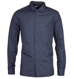 Lacoste Quilted Navy Overshirt