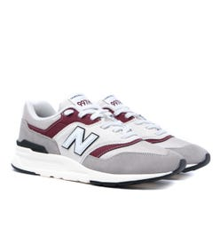 New Balance 997H White, Grey & Burgundy Trainers