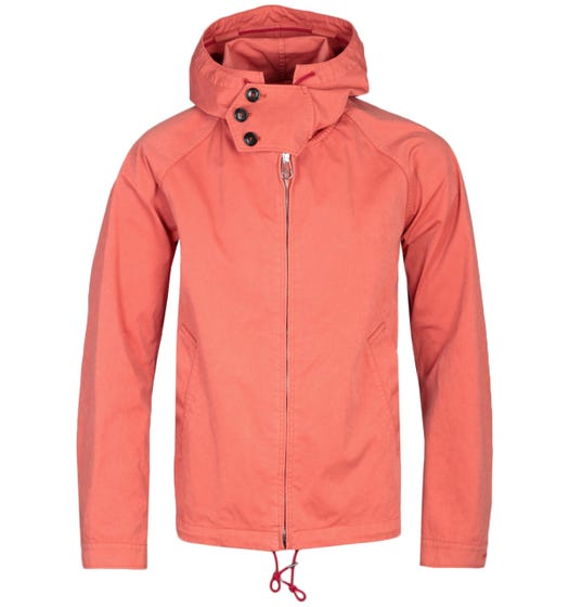 Ten C Sunset Orange OJJ Coated Canvas Anorak