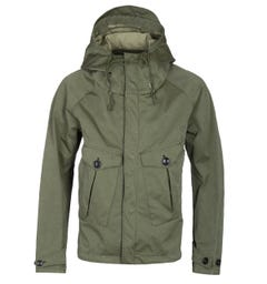 Ten C Olive Green Waterproof Tempest Anorak