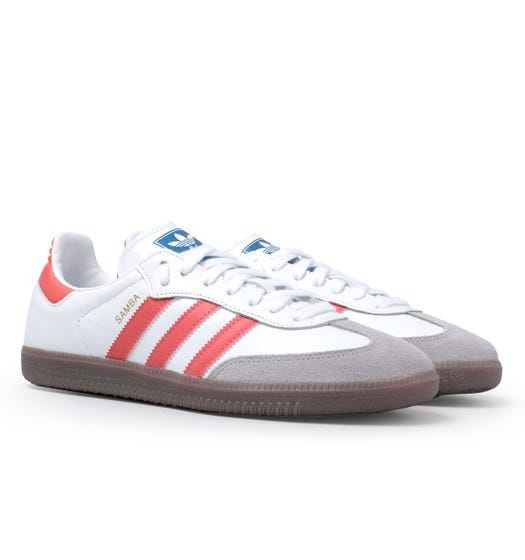 Adidas Originals Samba White & Red Trainers