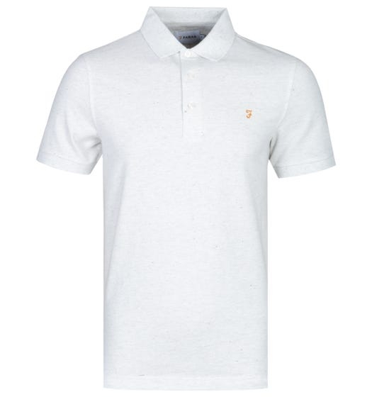 Farah Blanes Basic Berlin Grey Marl Pique Polo Shirt