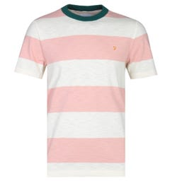 Farah Watson Stripe Pink Blush & White T-Shirt
