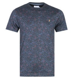 Farah Willet Print Navy T-Shirt