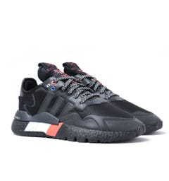 Adidas Originals Nite Jogger Black & Silver Notes Reflective Trainers